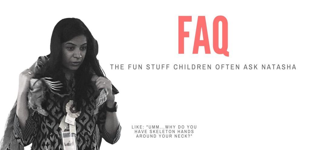 Natasha Sharma childrens books author FAQ