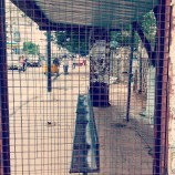 from the archives - bus stop window grill frame