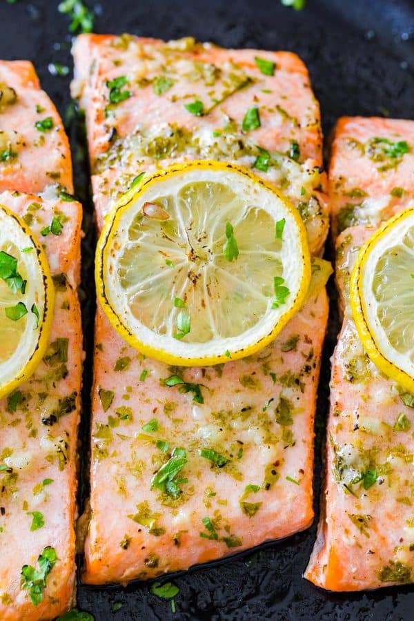 Baked Salmon Filet up close