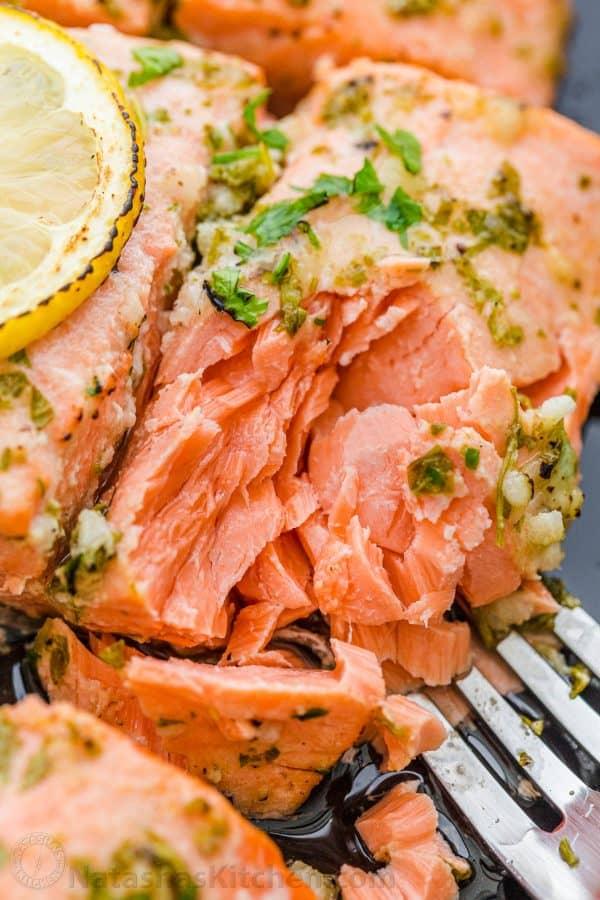Flaked Baked Salmon Recipe