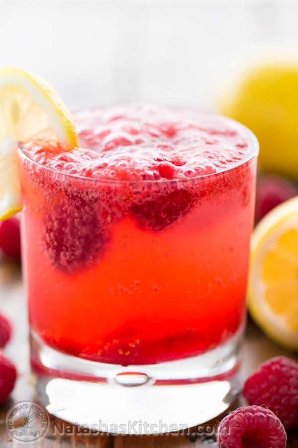 Sparkling Raspberry Lemonade Recipe  NatashasKitchencom