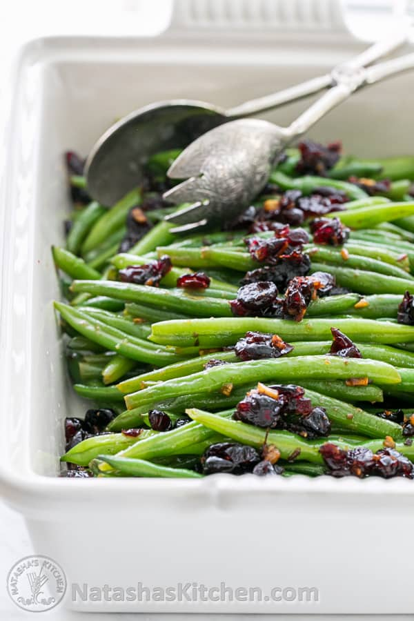 Green Beans Recipe Green Beans with Cranberries  Natashas Kitchen