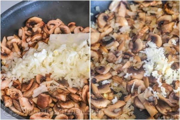 Cazuela de pollo y champiñones-3
