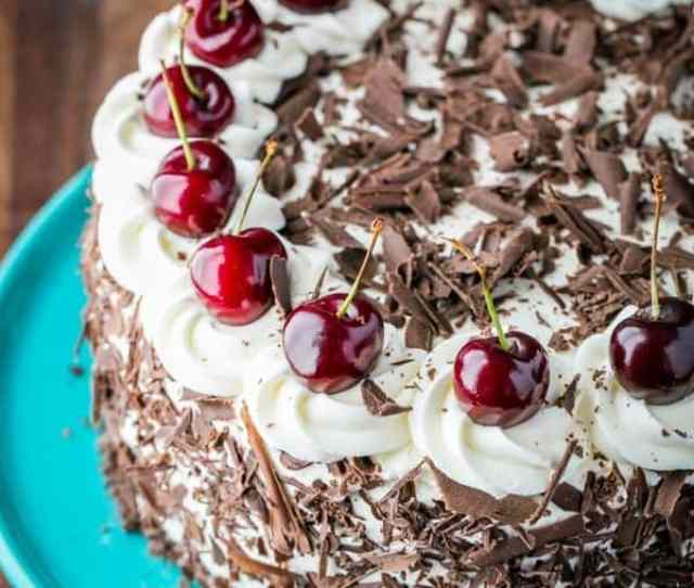 Black Forest Cake A Famous German Chocolate Cake With  Chocolatey Layers