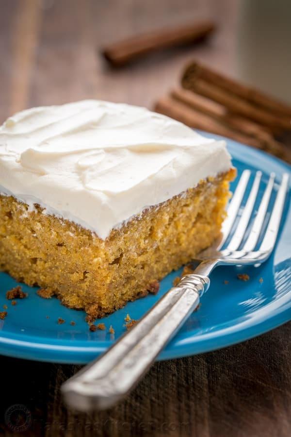 Easy Pumpkin Cake Recipe VIDEO  NatashasKitchencom