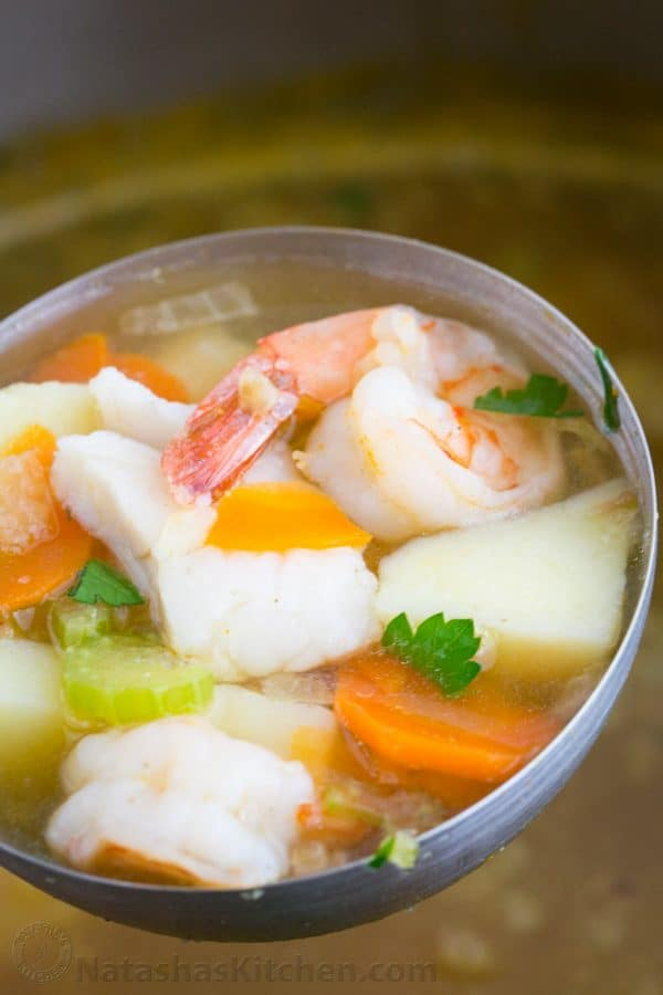 Fish and Shrimp Soup Ukha Recipe  Natashas Kitchen