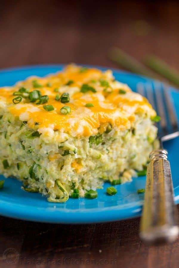 Cheesy Zucchini Casserole Recipe  NatashasKitchencom