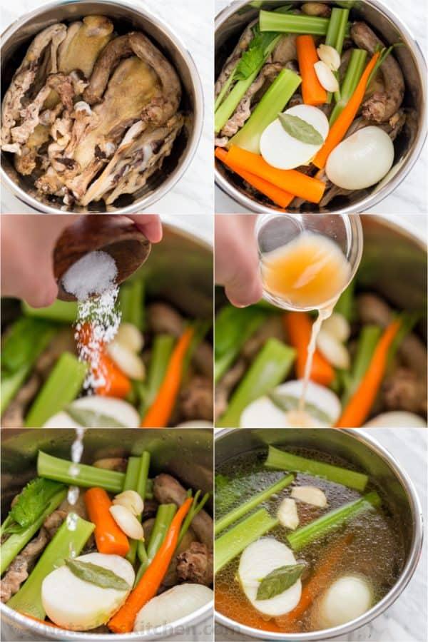 Chicken Stock Chicken Bone Broth 3 Ways  NatashasKitchencom