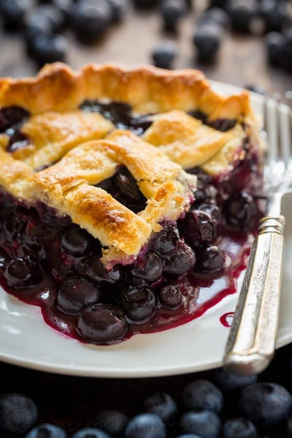 Blueberry Pie Recipe VIDEO  NatashasKitchencom