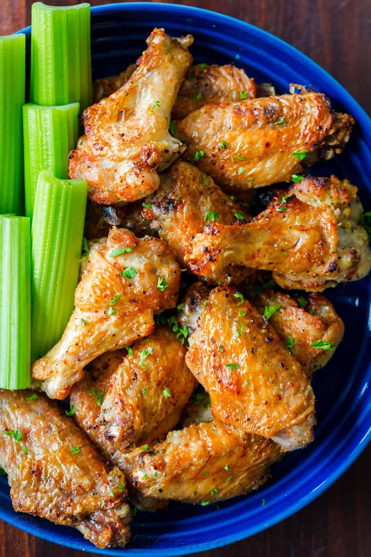 Air Fryer Chicken Wings Extra Crispy  NatashasKitchencom