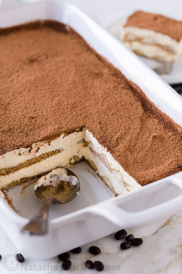 Lady Finger Tiramisu Cake Recipe : finger, tiramisu, recipe, Tiramisu, Recipe, (VIDEO), NatashasKitchen.com