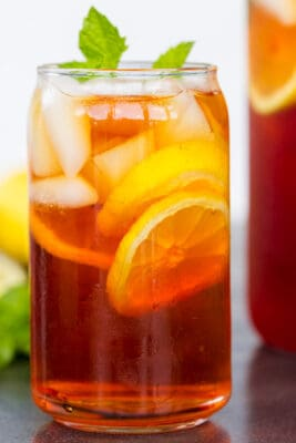 Iced Tea Served in glass with ice