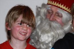 Zo'n blije Michiel bij Sinterklaas