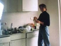 in de nieuwe keuken