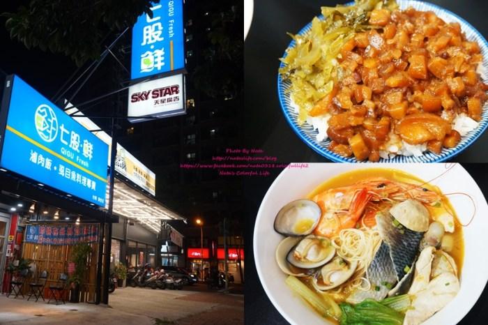 【美食♔台南北區小吃】七股鮮。滷肉飯虱目魚料理(海安店)。海鮮給的超級有誠意!鮮味十足的痛風海產類,必吃膠質Q滷肉飯