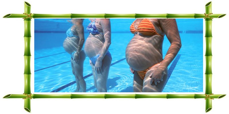 Grossesse   Enceinte en piscine  Lgre et dtendue grce  leau