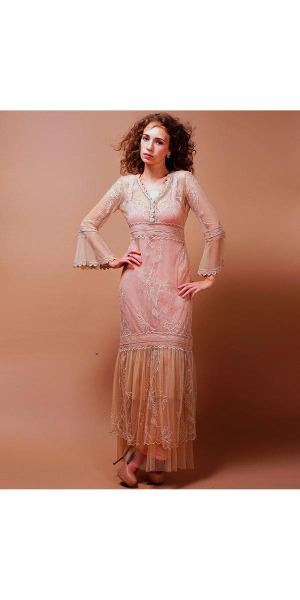 Titanic Wedding Dress In Pink-champagne Nataya
