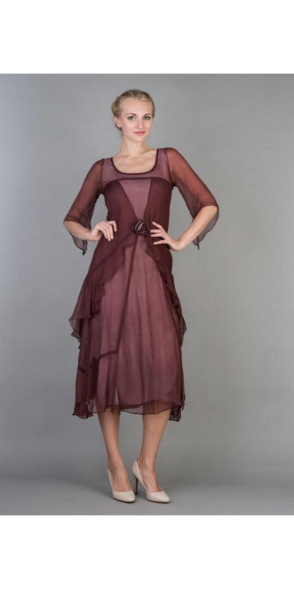 Nataya 10709 Great Gatsby Dress In Garnet