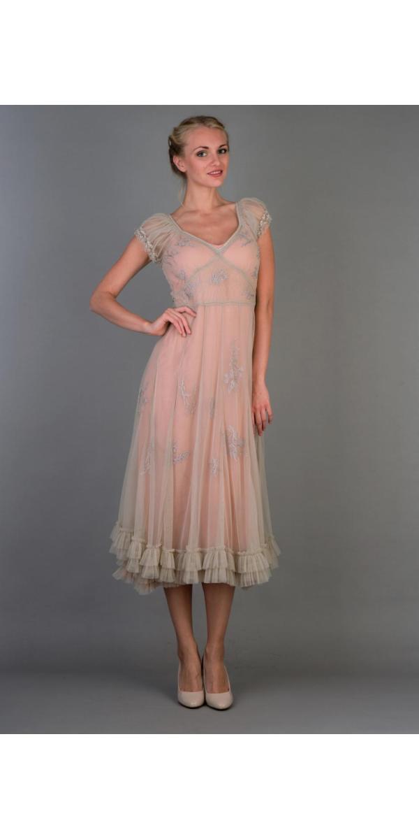 Nataya 40193 Ballerina Party Dress In Antique Pink