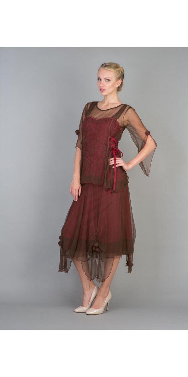 Nataya 40232 Vintage Inspired Assymmetrical Party Dress