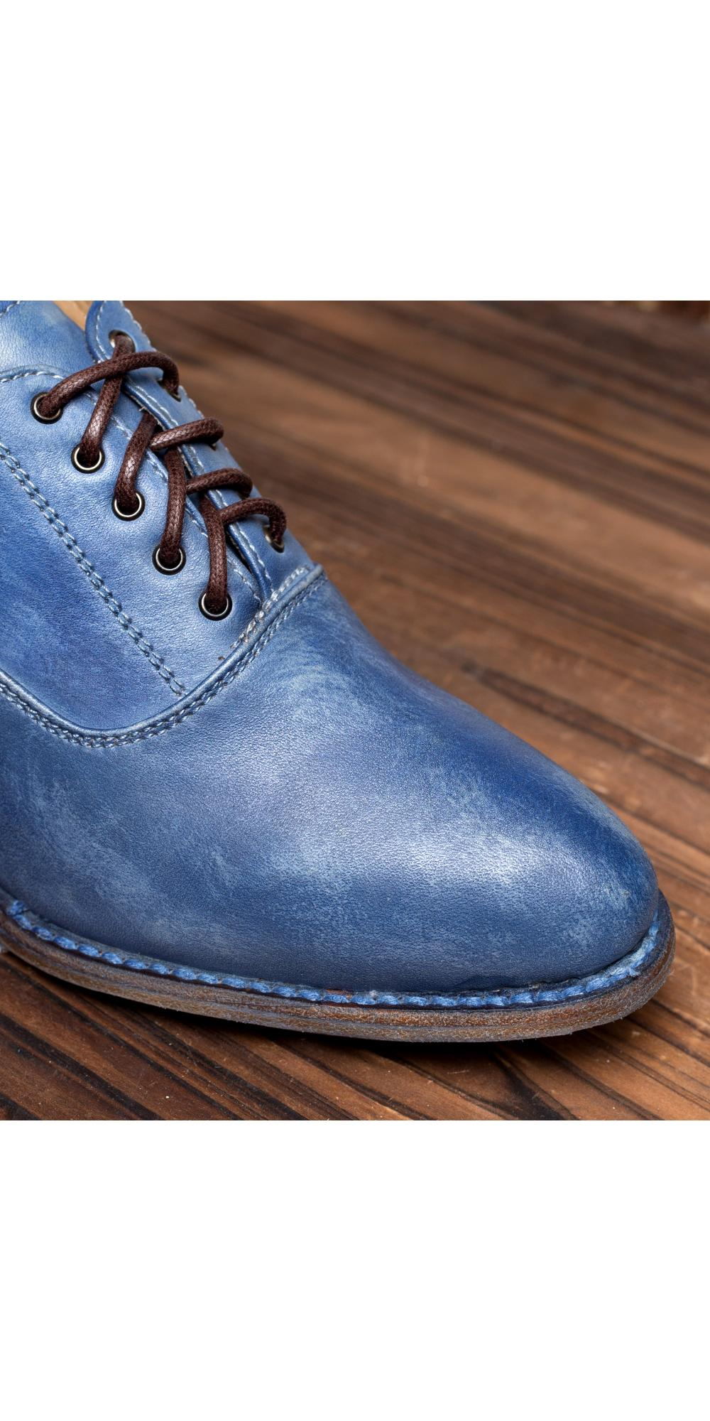 Victorian Style Shoes in Steal Blue
