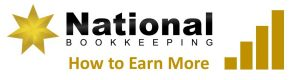 National Bookkeeping - How to Earn More Money - Logo