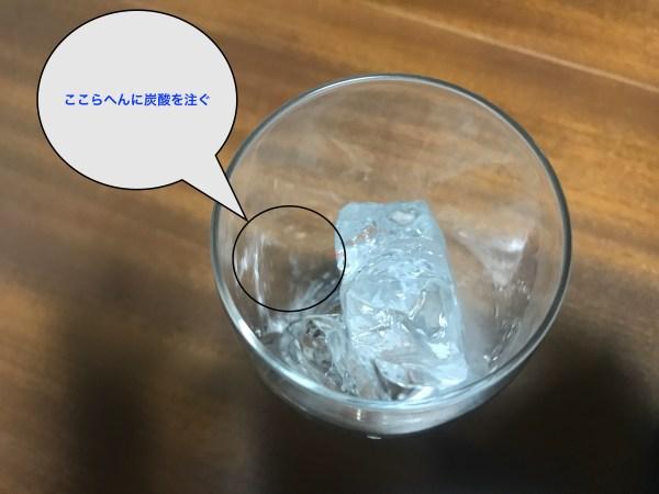 氷の入っているグラス