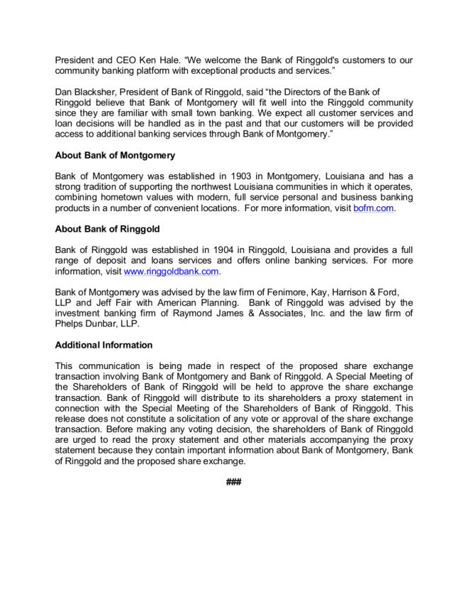 BOM Press Release - 2