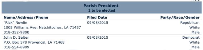 Parish President