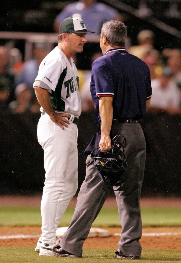 "RICK JONES – Tulane's baseball coach for 21 years (1994-2014), Jones led the Green Wave to 12 NCAA tournament berths and the only two College World Series appearances in school history (2001, 2005). The former Georgia Tech assistant posted an 814-439-2 record at Tulane, the most wins and the highest winning percentage (.649) in school history. His 2005 team was ranked No. 1 nationally for much of the year and received the No. 1 overall seed in NCAA Tournament. Jones coached 24 All-Americans and seven conference players of the year. He earned ""coach of the year"" honors five times from the Louisiana Sports Writers Association and three times from Conference USA. He won 2005 national coach of the year (Baseball America) honors. Widely respected by his peers nationally, Jones served as Team USA head coach in 2009"