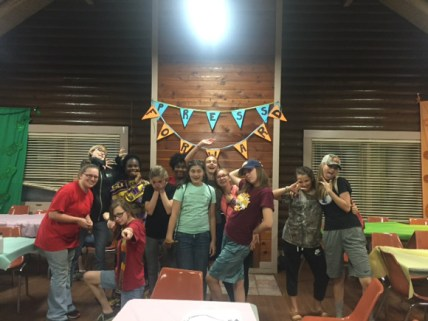 Attendees at the Young Women Camp from left are Lexi DeLoach, Genevene DeFord, Leah DeFord, Myshia Walker, Jessica Clark, Tia Sykes, Audrey Rasmussen, Bess DeFord, Catherine Picht, Kate Methvin, Lily Zachary and Emma Zachary. Not pictured is Ruby Mobley.
