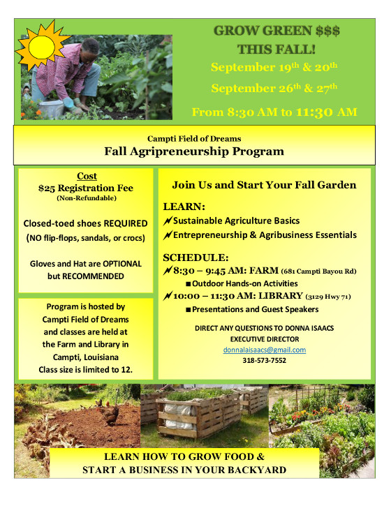 Agripreneurship Flyer Adults