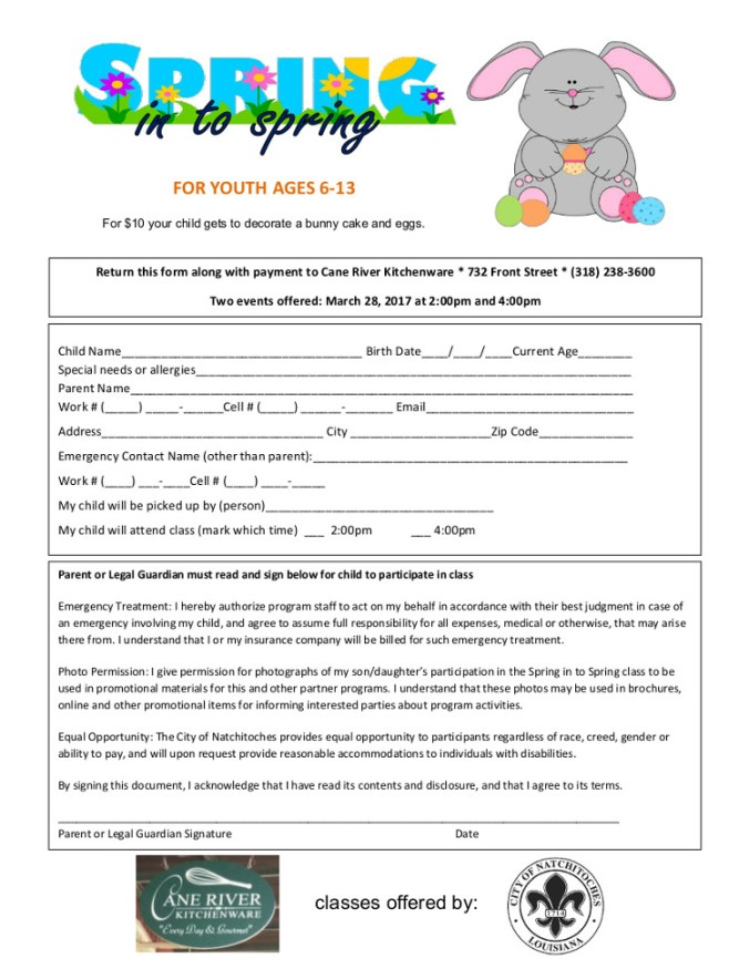 Spring into Spring registration