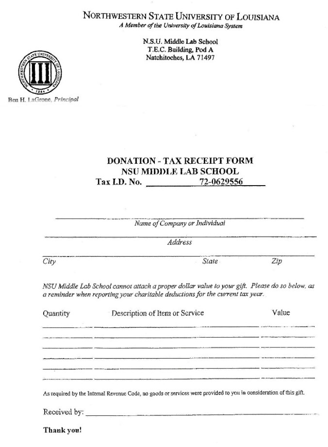 Tax Donation Form