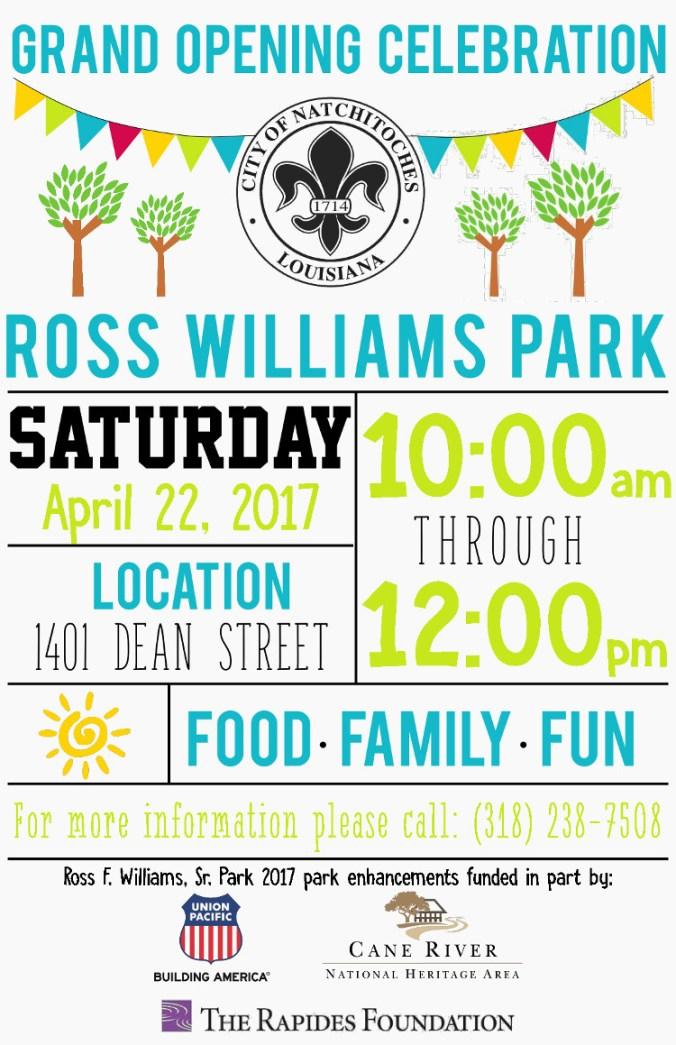 ross williams park reopening celebration