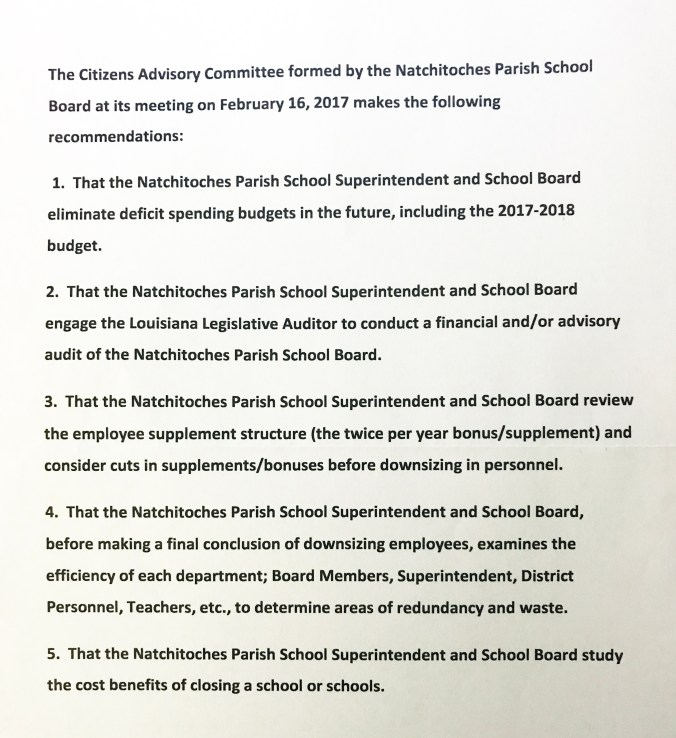School Board_Recommendations
