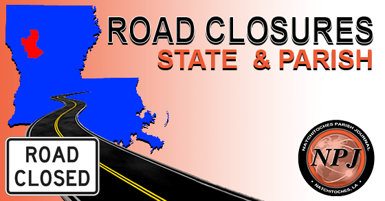 state and parish road closed