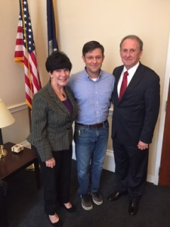 Rick and Mary Ann with Congressman Mike Johnson