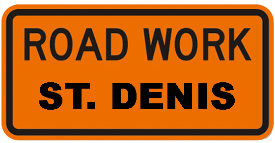 ASt Denis Road WOrk