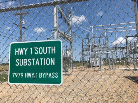 Infastructure Hwy 1 South Substation Sign