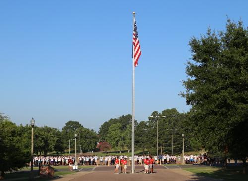 Boys State Flag Raising 2