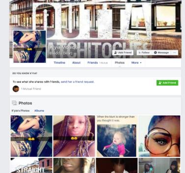 Kyia FB Profile