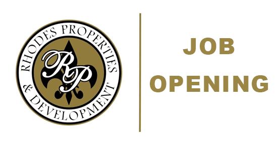 Rhodes Job Opening