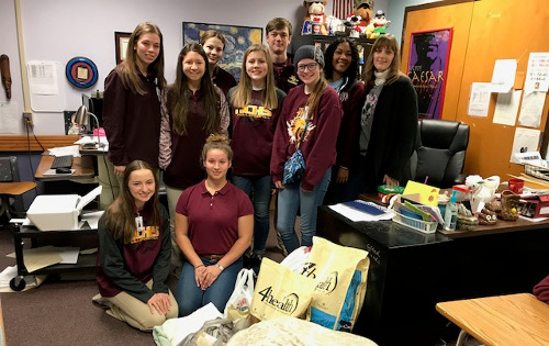 NCHS Class donates supplies