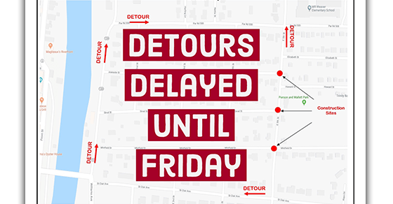 Detours Delayed
