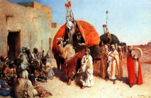Philippe Pavy 'Bride arriving in a village, Biskra, Algeria'