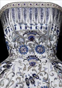 Christian Dior Palmyre dress embroidery detail