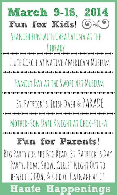 St. Patrick's Day Events in Terre Haute, Indiana 2014 with info regarding our Terre Haute Events Calendar