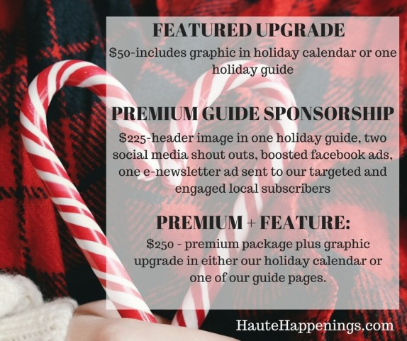 Holiday advertising on Haute Happenings