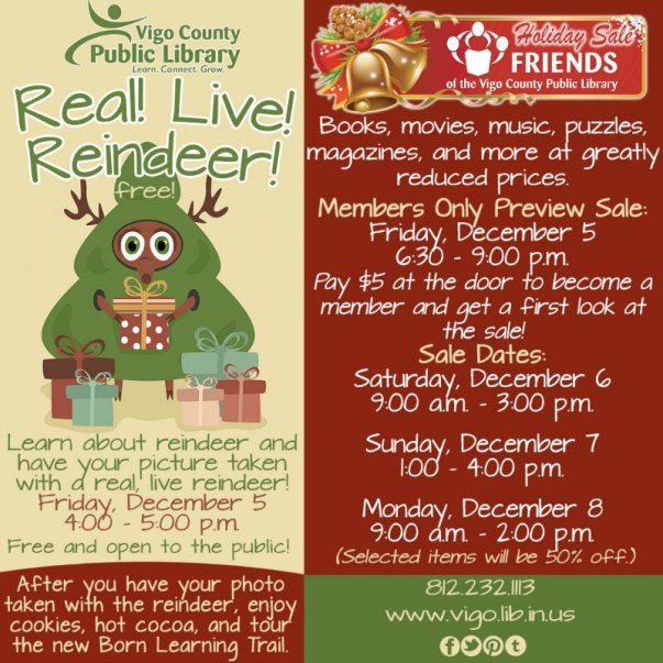 Christmas and Holiday Events at the Vigo County Public Library